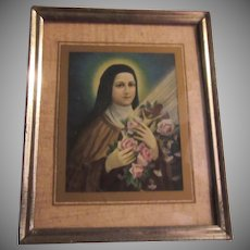 St Therese Lisieux Small Old Framed Print