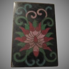 Fine Chinese Cloisonne Matchbox Cover