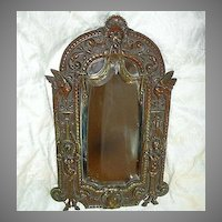 French Bronze Standing Mirror