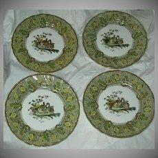 Set 4 Royal Doulton Bursley Dinner Plates Rabbits D1319 Pattern
