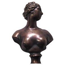 Frederick Cooper Signed Bust of Woman Sculpture
