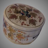 Papier Mache Lacquer Box Hand Painted Birds Kashmir India