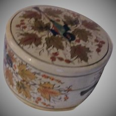 Papier Mache Lacquer Box Hand Painted Birds Kashmir India