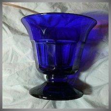 Rare Old Cobalt Glass Pedestal Bowl
