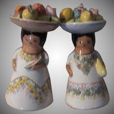 Calypso Ladies Fruit Hats Salt Pepper Shakers Shaker Set