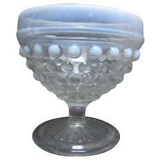 Set 8 Hobnail Glass Milk Border Sherberts Compotes
