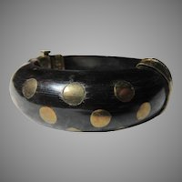 Wood and Brass Middle Eastern Bracelet