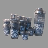 India Middle Eastern Theme Bar Set 12 Glasses Shaker