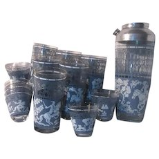 India Middle Eastern Theme Bar Set 12 Glasses Shaker