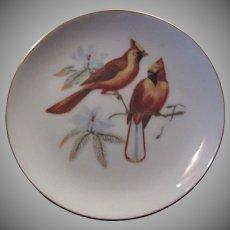 Red Cardinals Birds Collectors Plate Fine Bird Porcelain China Art