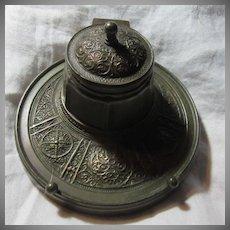 Bronze Inkwell Ornate Metalwork