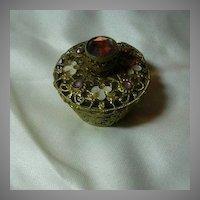 Jeweled Small Perfume Bottle