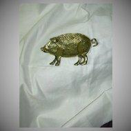 Heavy  Brass Pig Pin Tray