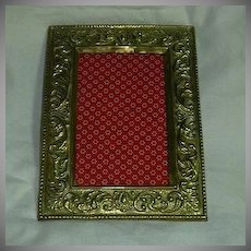 Old English Ornate Brass Frame
