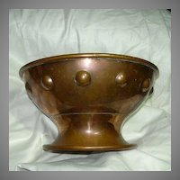 Elegant Old Copper Footed Bowl