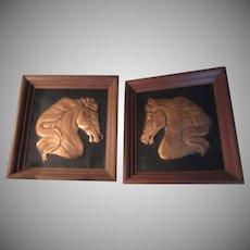 Seilheimer Copper Horses Framed Horse Art