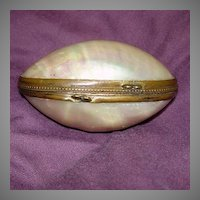 MOP Mother Of Pearl Egg Box Thimble Holder