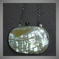 Antique Coin Purse Mother Of Pearl