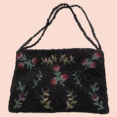 Christiana Fine Beaded Bag With Beaded Straps Evening