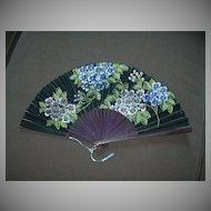 Vintage Hand Painted Hand Fan Flowers