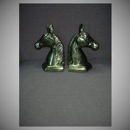 Korean Brass Pair Horse Head Bookends