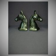 Korean Brass Pair Horse Head Bookends