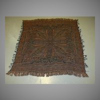 Antique Paisley Throw Weaving Tapestry