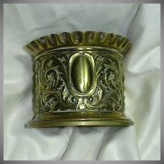 Old Ornate English Brass Desk Accessory