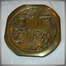 W D Allen Bronze Decorative Plate Plaque Detailed Figures