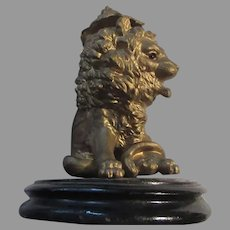 Antique Lion Inkwell Great Eyes