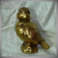 Old Gold Gilt Bird Figurine