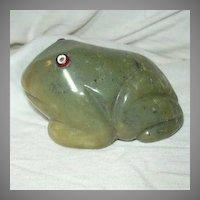 Green Onyx Frog Figurine