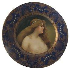 Anheuser Busch Malt Nutrine Vienna Art Plate  1905 Lady