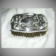 Old Silverplate Brush Art Nouveau Fine Silver