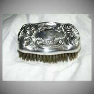 Old Silverplate Brush Art Nouveau Fine Silver