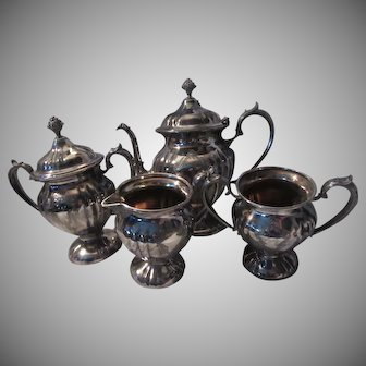 Knickerbocker Silverplate 4 Pc Tea Set
