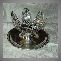 Old Silver Plate Grapefruit Holders Servers Dishes Set Of 8