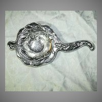 Art Nouveau Silverplate Tea Strainer
