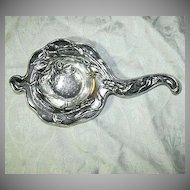Art Nouveau Silverplate Tea Strainer