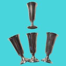 Set 4 Cordials Gorham Sterling Silver