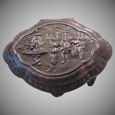 Silverplate Small Jewelry Box Fancy Designs