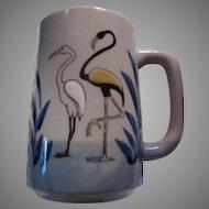 Unusual Large Mug Flamingos Birds