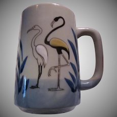 Unusual Large Mug Flamingos Birds