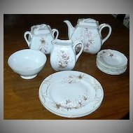 12 Pc China Tea Set Japanese Oriental  Dining Teapot Creamer Sugar Dessert Service