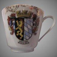 Bavaria Germany Demitasse Cup Saucer Set Wiesloch  Crest