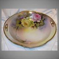 Artist Signed Hand Painted Bowl Noritake Japan T Howzan Fine Porcelain & China