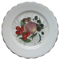 English Bone China Rosina Plate Fruit Cherries Design