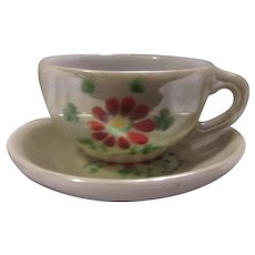 Miniature Cup Saucer Occupied Japan