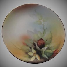 Noritake Hand Painted Decorative Plate Nut and Flowers