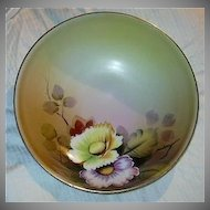 Hand Painted Meito Japan Bowl Fine Dining China Art Peonies Peony Flowers